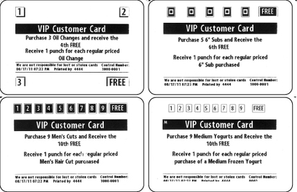 Sample cards foreincentives provides a thermal card printer that loyalty punch cards colourmoves